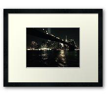 Brooklyn Bridge by Night Framed Print