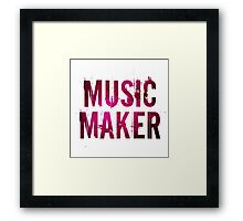 Music Maker Framed Print