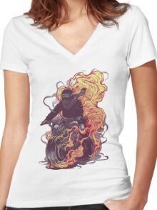 Dark Rider Women's Fitted V-Neck T-Shirt