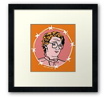 Barb Wire Love Framed Print