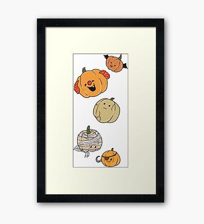 Silly Pumpkins Framed Print