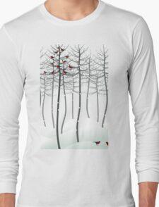 Bird in wood Long Sleeve T-Shirt