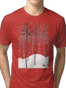 Bird in wood Tri-blend T-Shirt