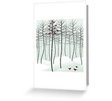 Bird in wood Greeting Card