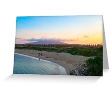 Family leaves the beach Greeting Card