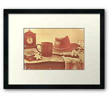 """""""'Bout Ready, Sheriff?'""""... prints and products Framed Print"""
