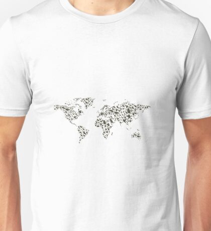 Bird map Unisex T-Shirt