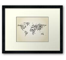 Bird map Framed Print