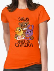 Smile at Freddy Fazbear's Pizza! Womens Fitted T-Shirt