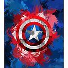 Captain America Phone Case by LumpyHippo
