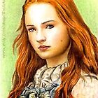 Sophie Turner miniature by wu-wei