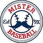 Mr. Baseball Sticker by Dillon Finley