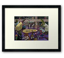 Cartoon Dinosaur Museum Framed Print
