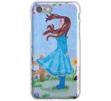 Lovely girl in february  iPhone Case/Skin