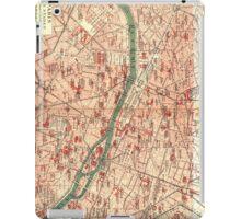 Vintage Map of Paris France (1910) iPad Case/Skin