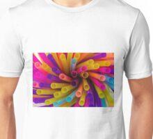 Coloured Straws Unisex T-Shirt