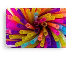 Coloured Straws Canvas Print
