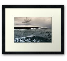 Cliffs of Moher from Doolin Harbour Cruise Framed Print