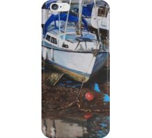 Single Boat on Eling Mudflats iPhone Case/Skin