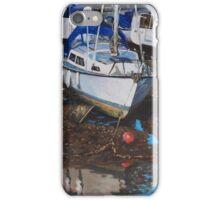 Single Boat on Eling Mudflats iPhone Case/Skin