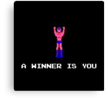 A Winner Is You Canvas Print