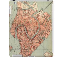 Vintage Map of Venice Italy (1920) iPad Case/Skin