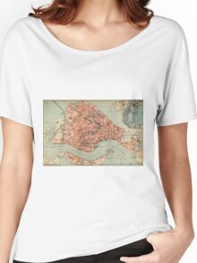 Vintage Map of Venice Italy (1920) Women's Relaxed Fit T-Shirt