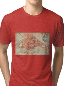 Vintage Map of Venice Italy (1920) Tri-blend T-Shirt