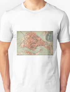 Vintage Map of Venice Italy (1920) T-Shirt