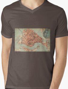 Vintage Map of Venice Italy (1920) Mens V-Neck T-Shirt