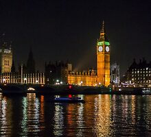 Westminster Skyline at Night by Sue Martin