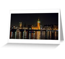 Westminster Skyline at Night Greeting Card