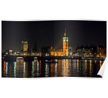 Westminster Skyline at Night Poster