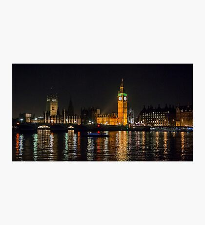 Westminster Skyline at Night Photographic Print