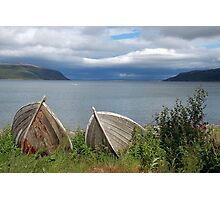 Boats ashore (Olderfjord - Norway) Photographic Print
