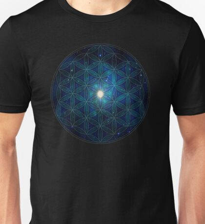 Sacred Geometry: Flower Of Life - Cosmos II Unisex T-Shirt