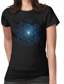 Sacred Geometry: Flower Of Life - Cosmos II Womens Fitted T-Shirt
