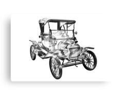 1914  Model T Ford Antique Car Illustration Canvas Print