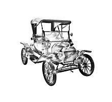 1914  Model T Ford Antique Car Illustration Photographic Print