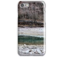 Fall at the mountain's lake iPhone Case/Skin