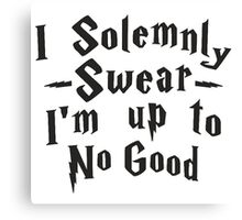 I Solenmnly Swear Canvas Print