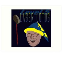 Community - Pierce, Laser Lotus Art Print