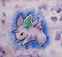 Nidoran [watercolour] by CornyMistick