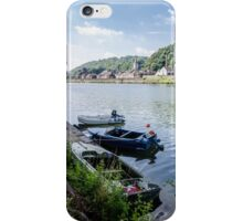 Boats at Dinant iPhone Case/Skin