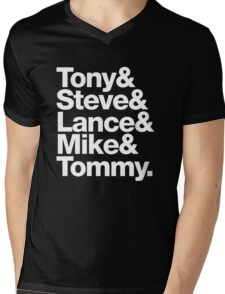 Tony. Steve. Lance. Mike. Tommy Mens V-Neck T-Shirt