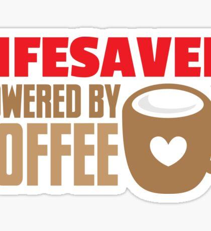 lifesaver powered by coffee Sticker