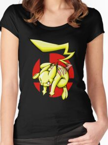 Pika smash bros Women's Fitted Scoop T-Shirt