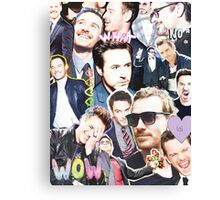 rdj/fassy collage Canvas Print