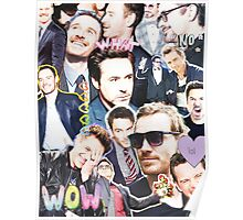 rdj/fassy collage Poster
