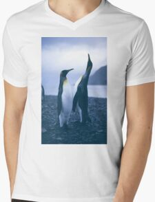 King Penguins Mens V-Neck T-Shirt